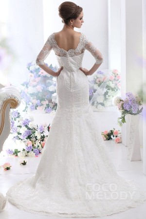 sheath-column-ivory-court-train-v-neck-lace-wedding-dress-b12966-c_2